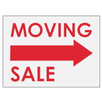 Moving Sale Sign