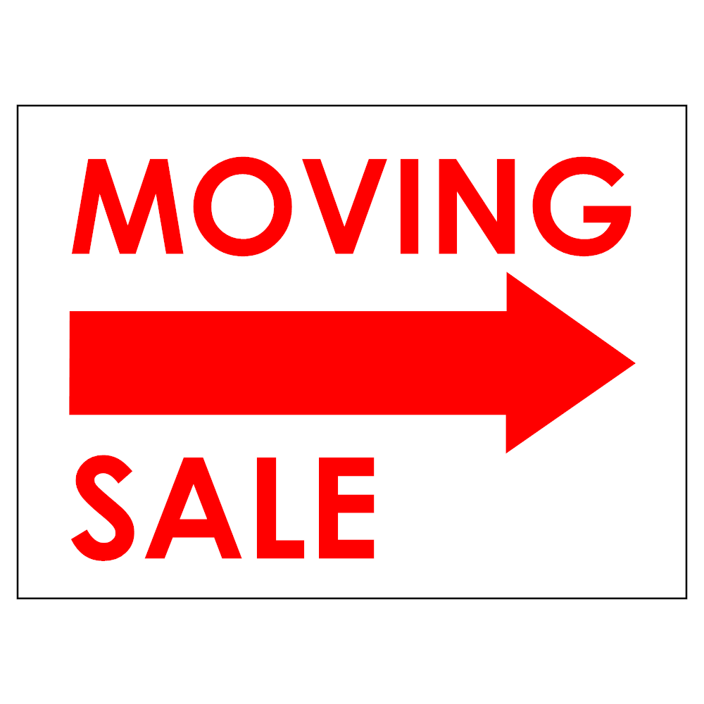 Example Image: Moving Sale Sign