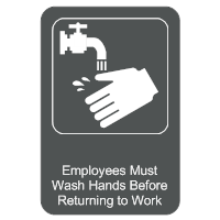 Must Wash Hands Sign