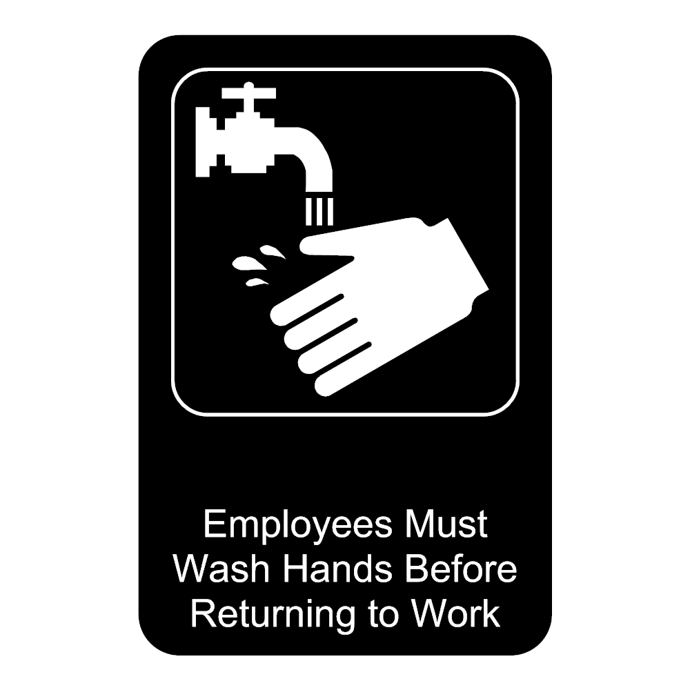 Example Image: Must Wash Hands Sign
