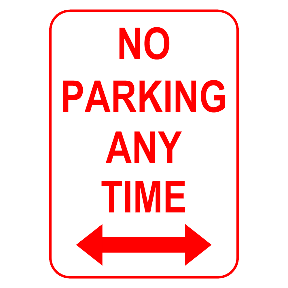 Example Image: No Parking Sign