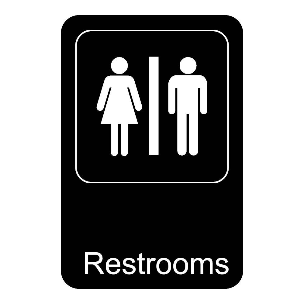 Example Image: Restrooms Sign