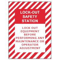 Safety Lockout Sign