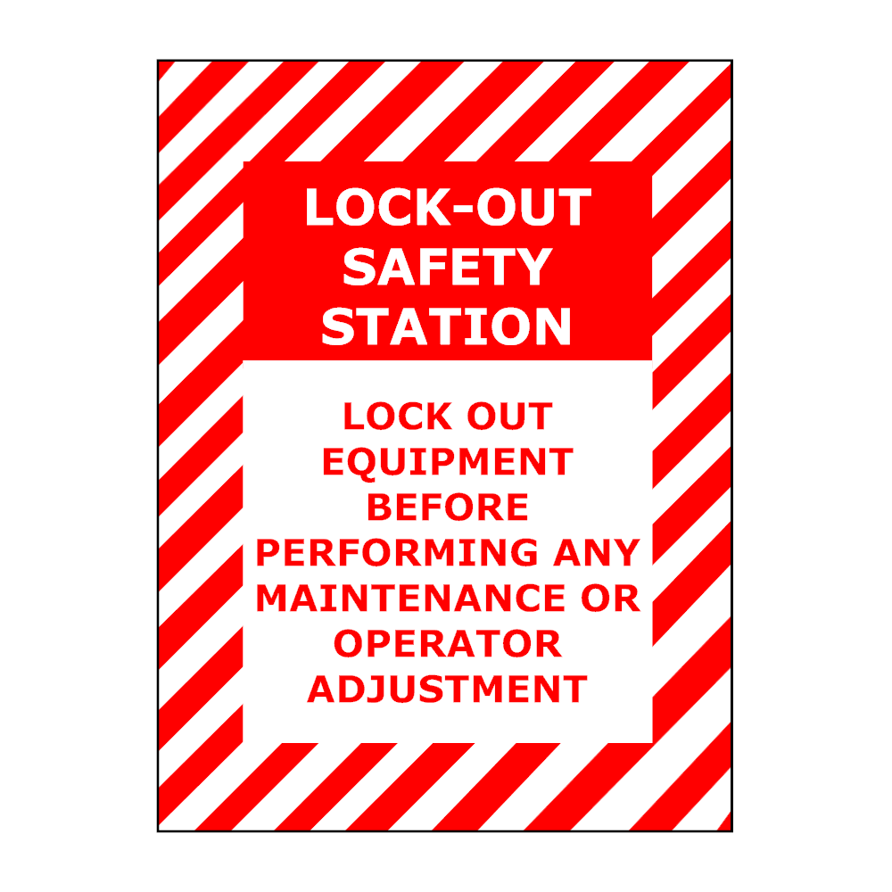 Example Image: Safety Lockout Sign
