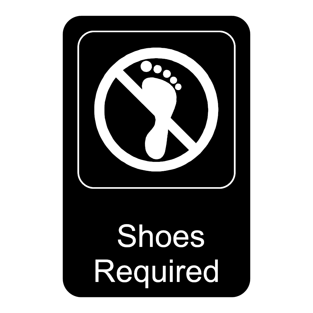 Example Image: Shoes Required Sign