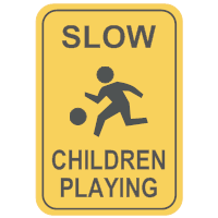 Slow - Children Playing Sign