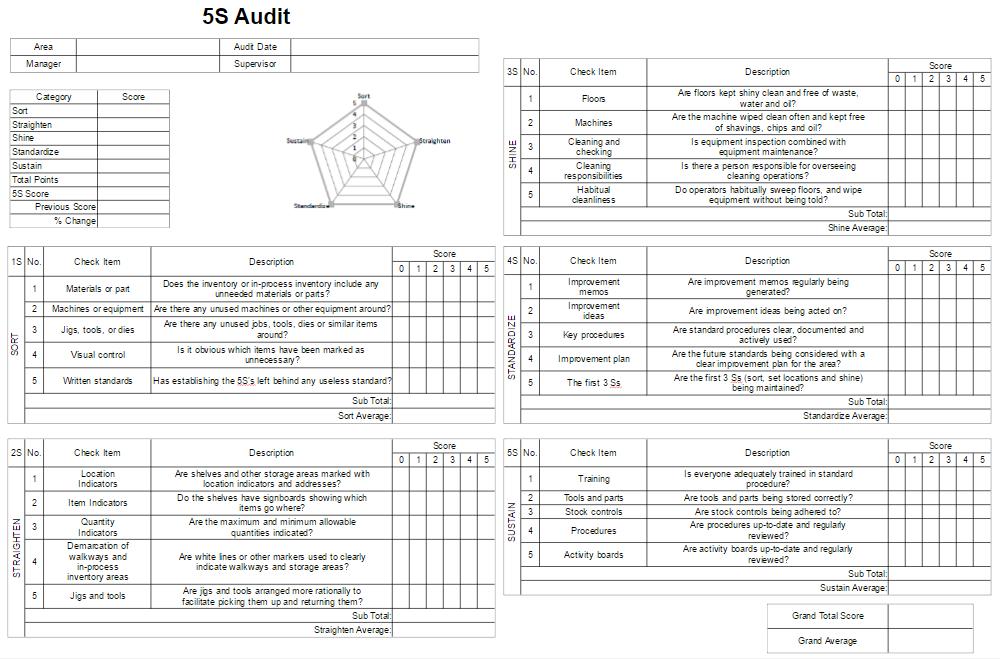 5S Audit Form