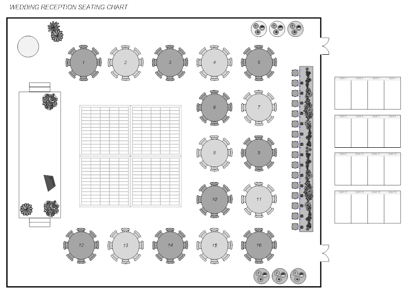 Banquet planning software make plans for banquets for Banquet hall floor plan