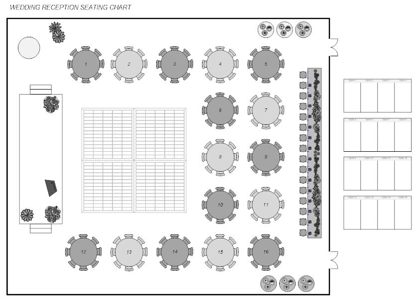 Banquet and venue floor plan