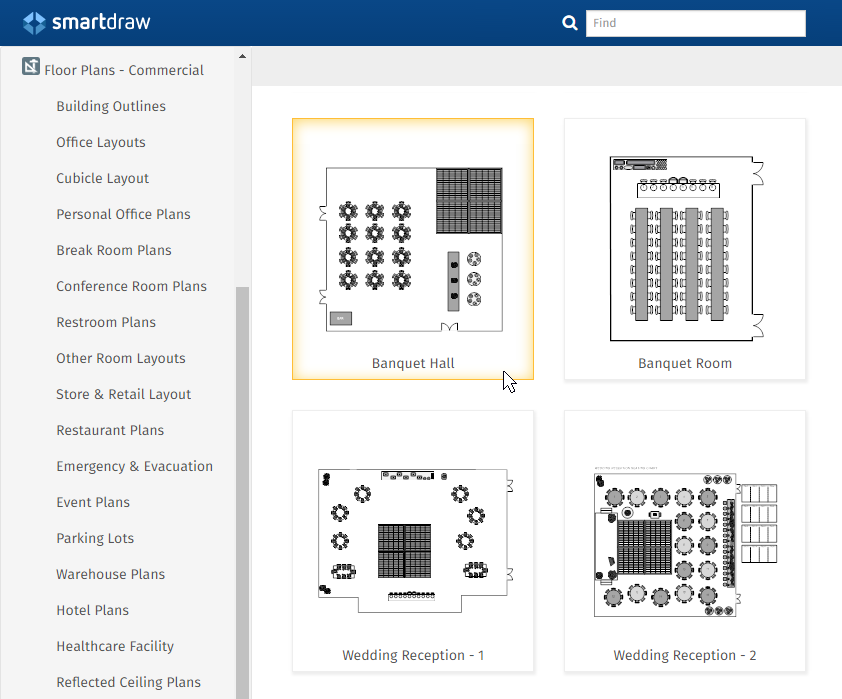 banquet room layout software
