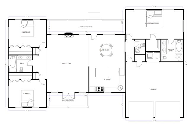 SmartDraw CAD floorplan