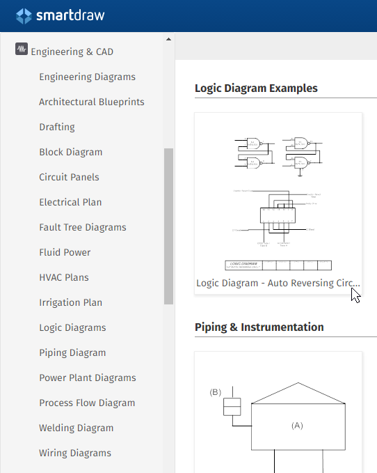 SmartDraw CAD templates