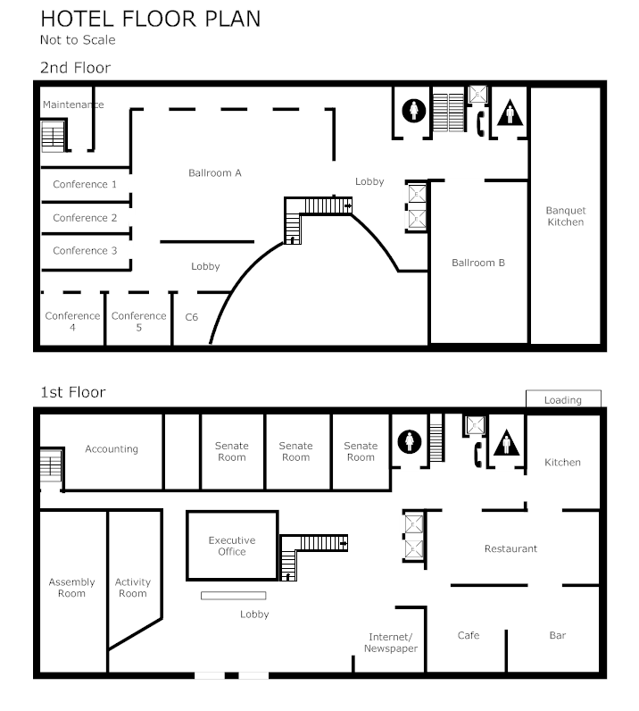 Conference planning software make free plans from templates for Free room layout template