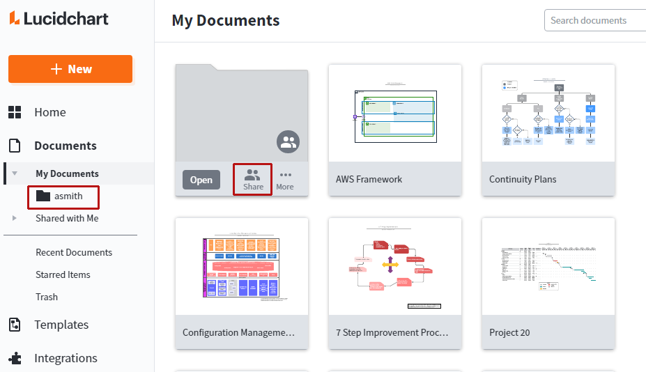 Have users create shared folders of their documents
