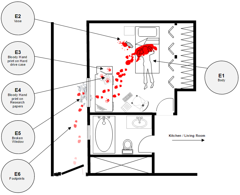 Crime scene investigation diagram example
