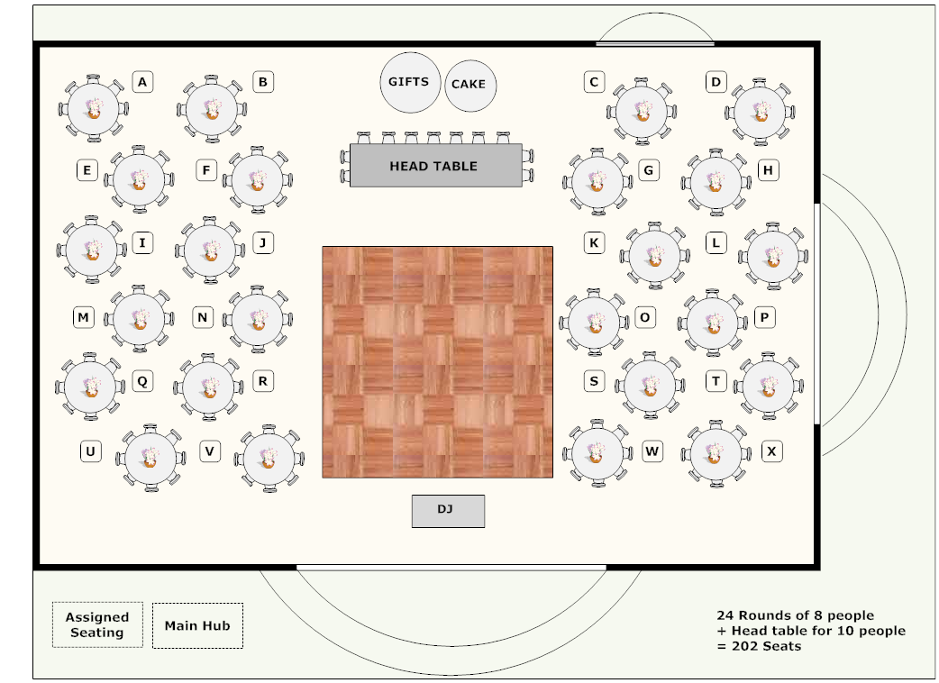 Banquet planning software make plans for banquets for Wedding floor plan template
