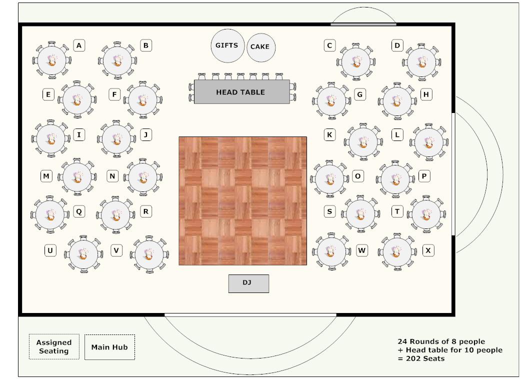 Banquet Plan - Space Layout