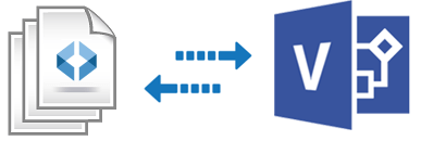 Import and export Visio files