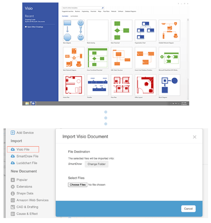 Import Visio files with ease