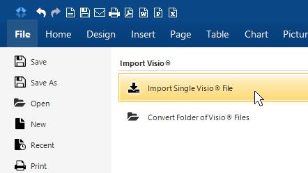 Import single Visio file