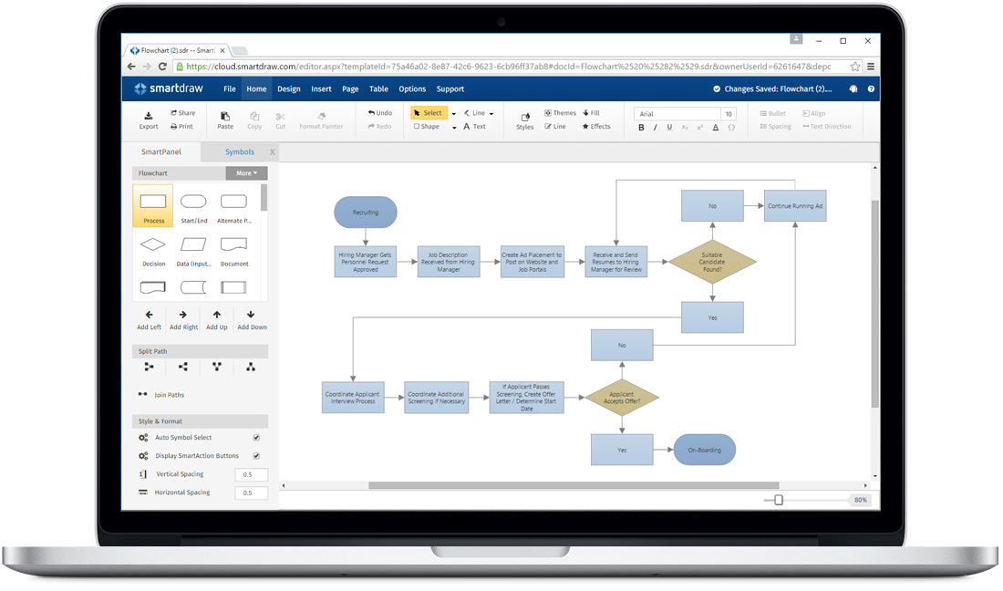 laptopwithflowchart?bn=1510011086 smartdraw for mac the easiest way to make diagrams on a mac