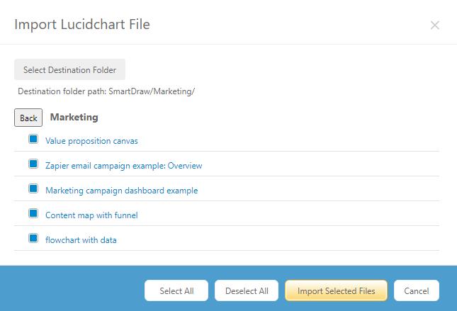 Import selected Lucidchart files