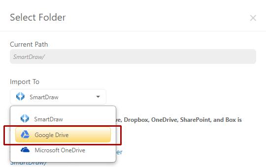 Choose a third party storage option
