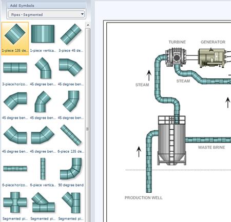 p id software get free symbols for piping and instrumentation diagrams rh smartdraw com Gas Piping Diagram Typical Boiler Piping Diagram