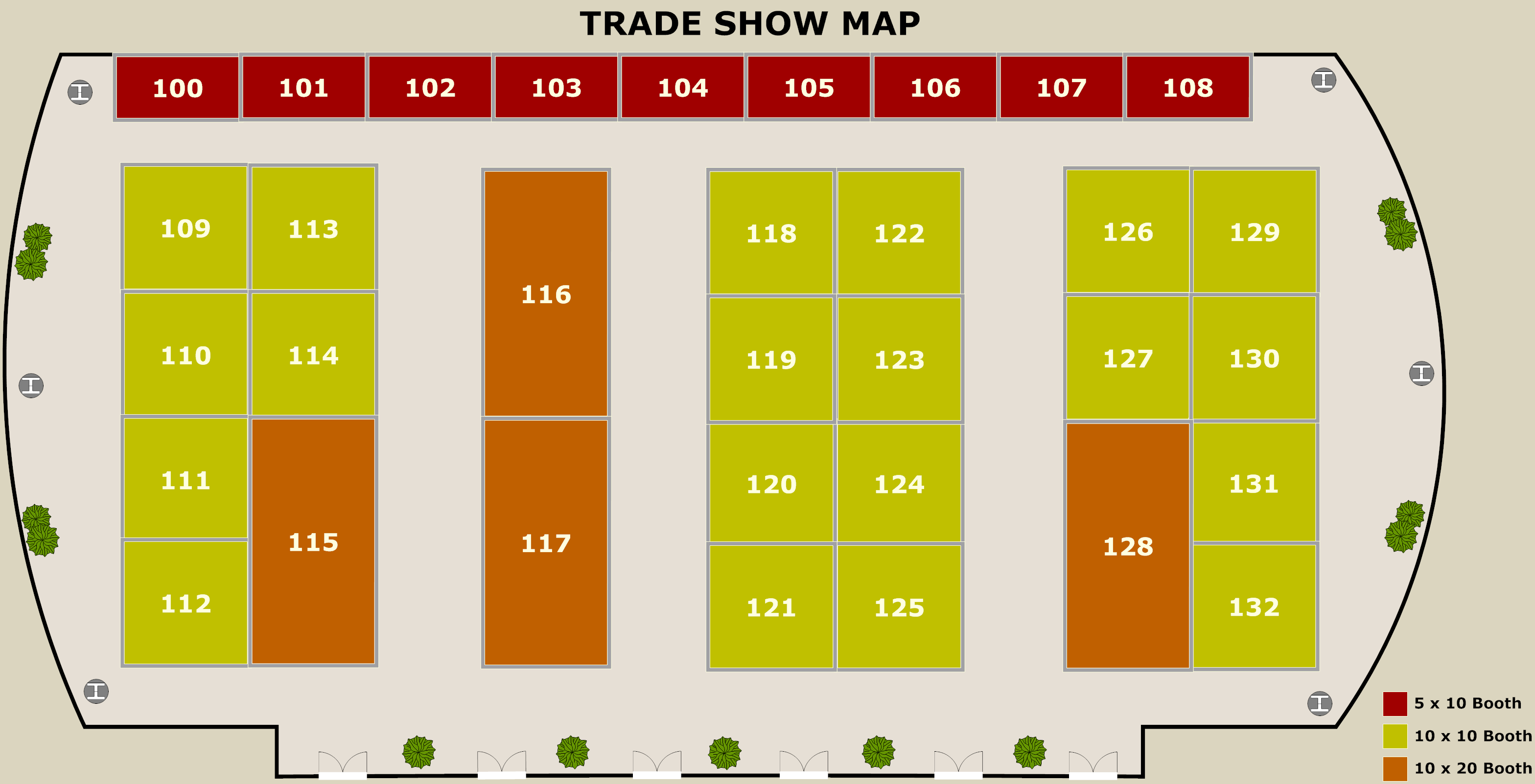 Trade Show Map Example