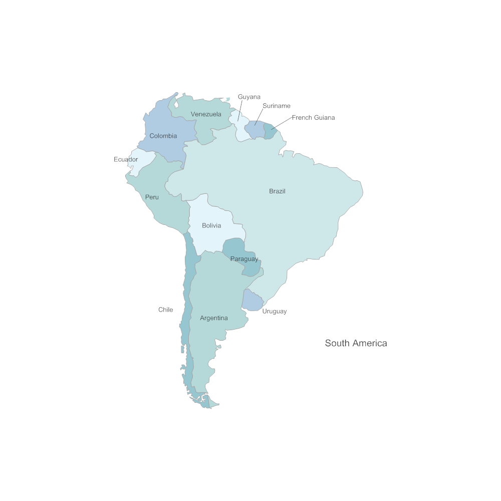 Example Image: South America Map