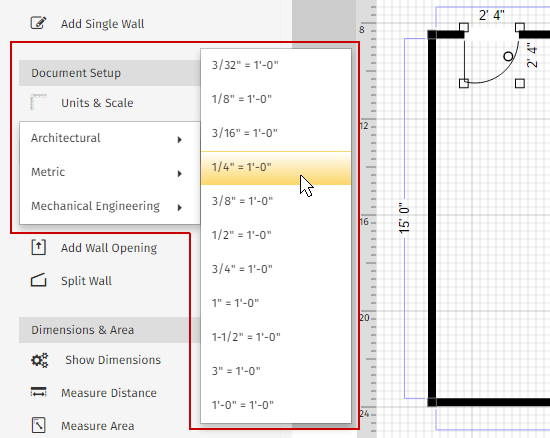 draw to scale with new standard engineering scales