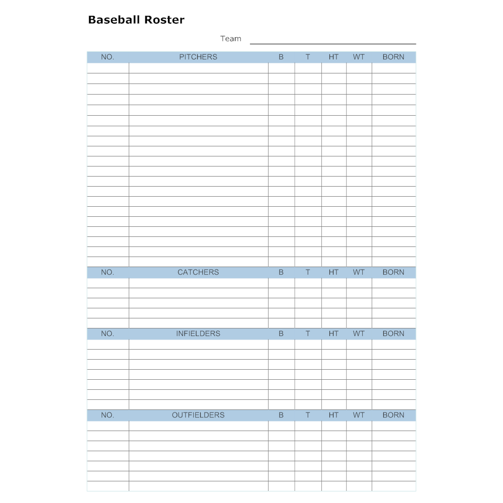 Example Image: Baseball Roster