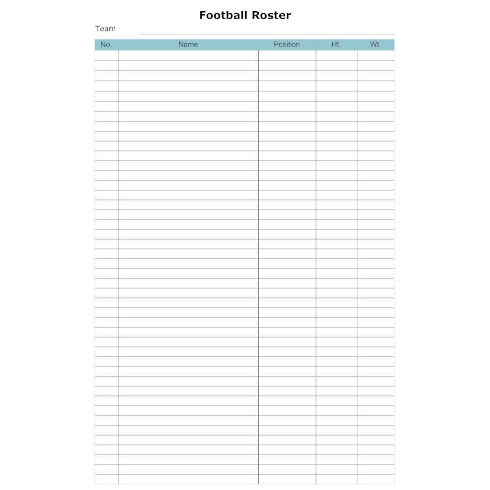 Example Image: Football Roster