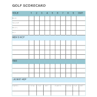 Sports examples golf scorecard template pronofoot35fo Choice Image