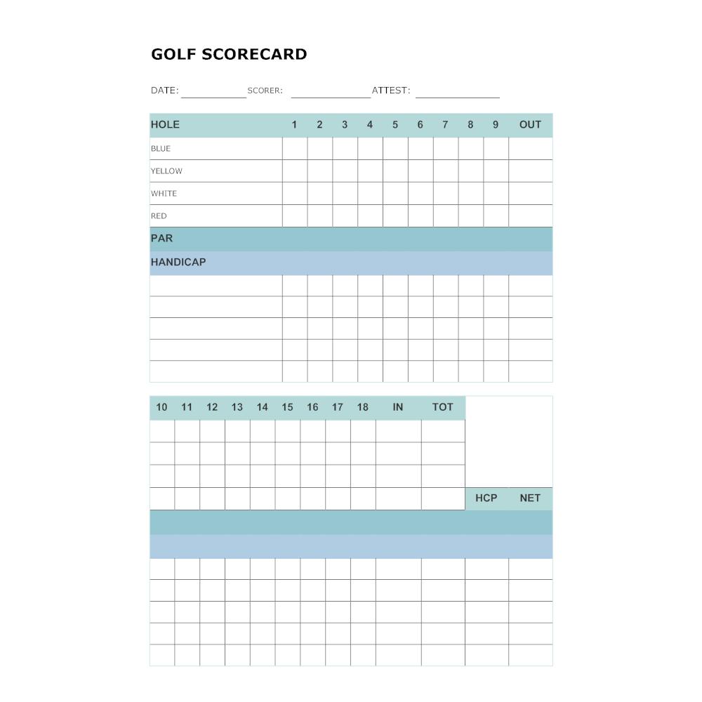 Example Image: Golf Scorecard