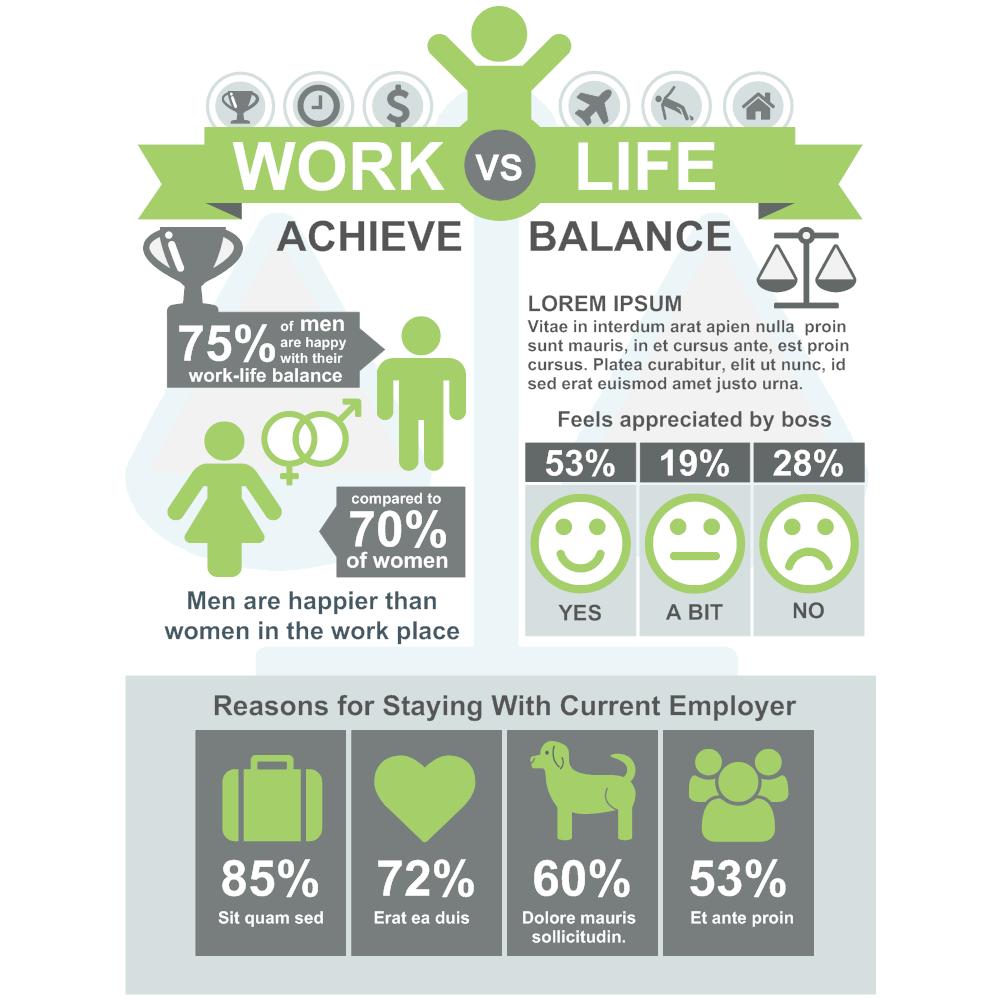 Example Image: Work Life Balance Infographic