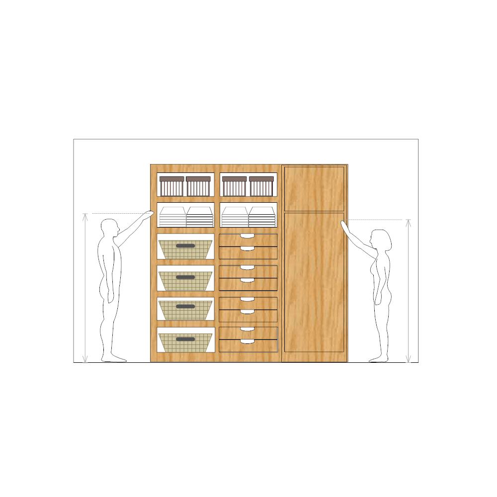 Kitchen Cabinet Drawing Software: Cabinet Storage Design
