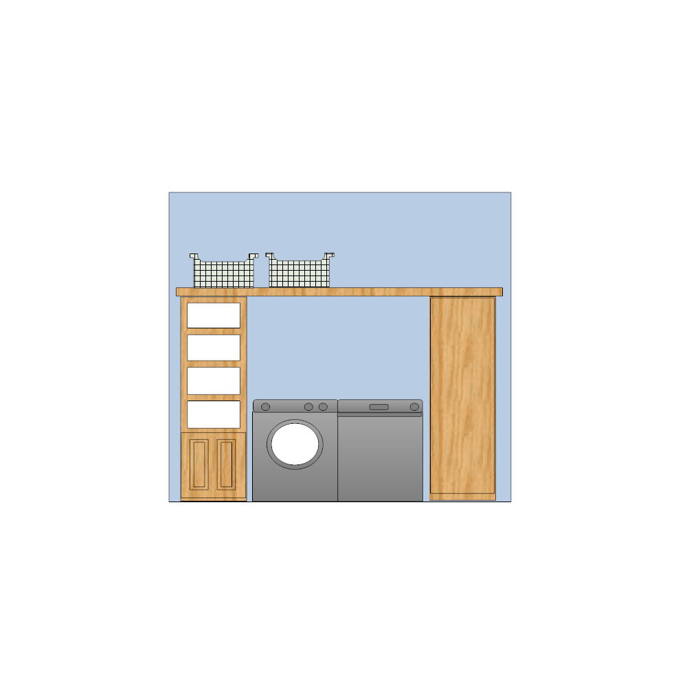 Example Image: Laundry Room Elevation Plan