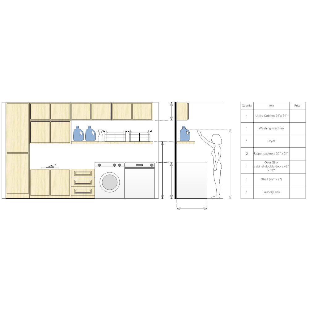 Example Image: Laundry Room Storage Design