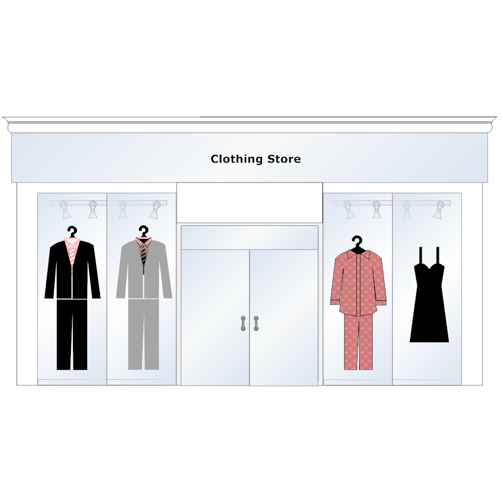 Example Image: Clothing Store Front