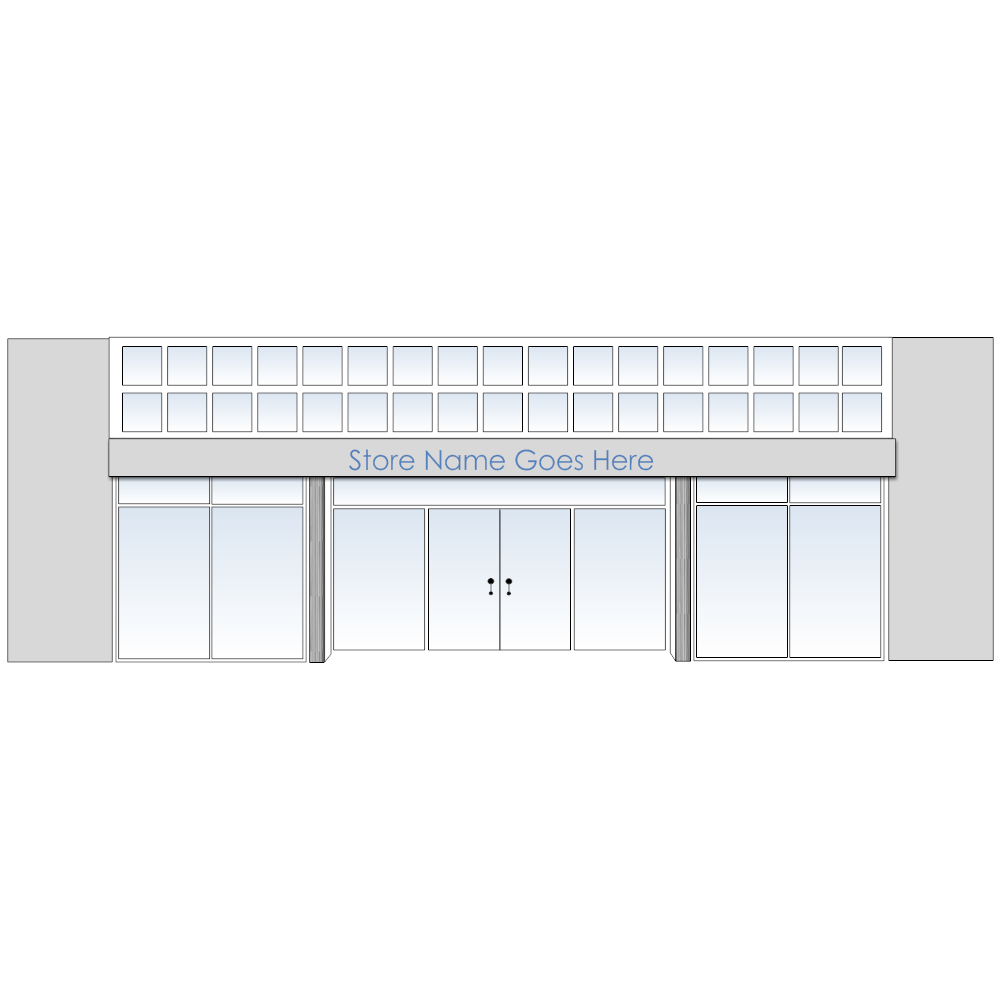 Example Image: Store Front Template