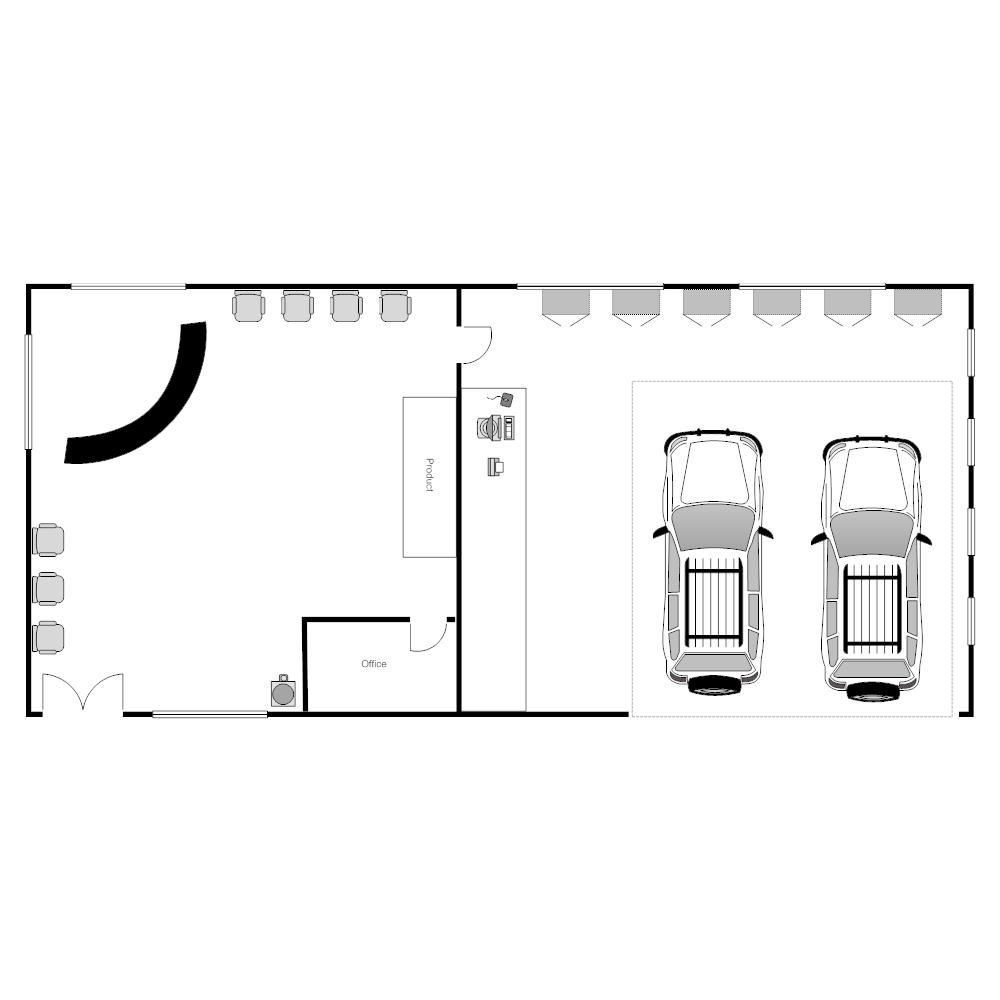 Superiore Casa Giardino Auto Mechanic Garage Layout
