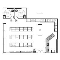 Restaurant blueprint maker top restaurant floor plan design more store layouts with restaurant blueprint maker malvernweather Image collections