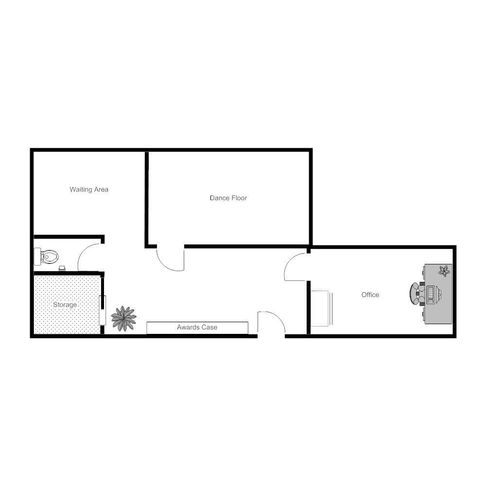 dance studio layout