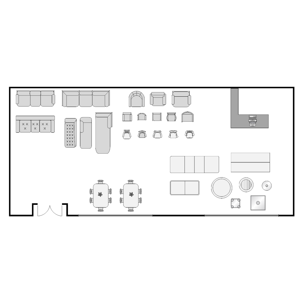 Furniture store layout for Retail floor plan software