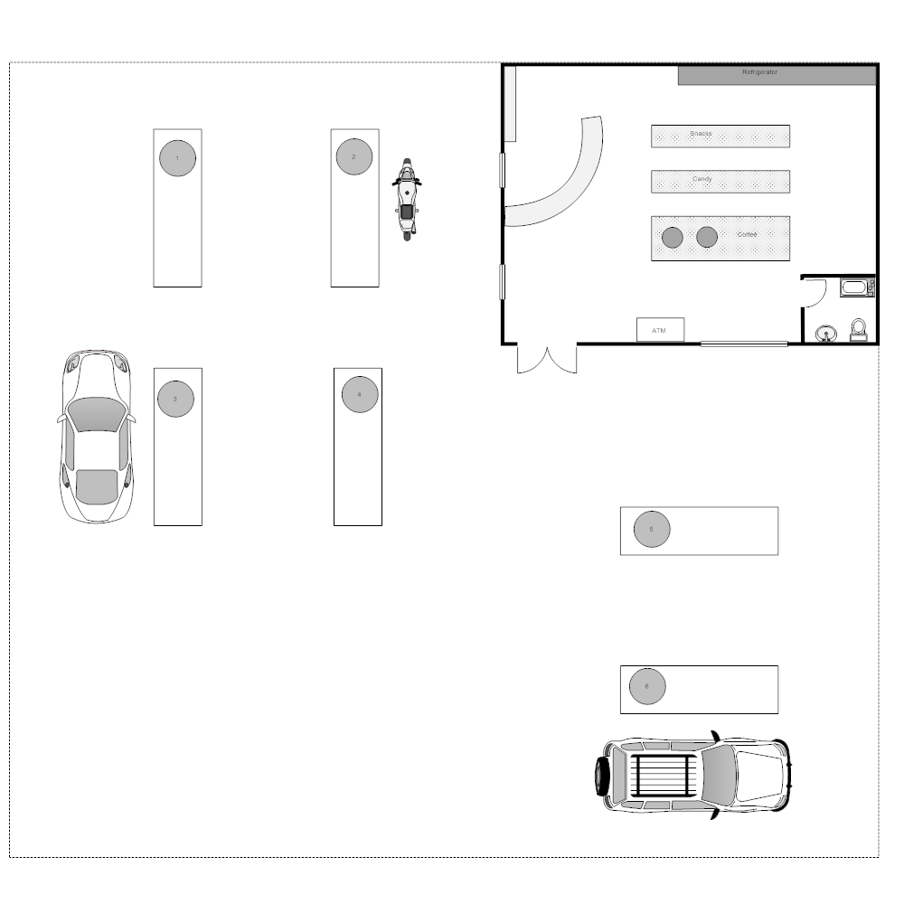 Example Image: Gas Station Layout