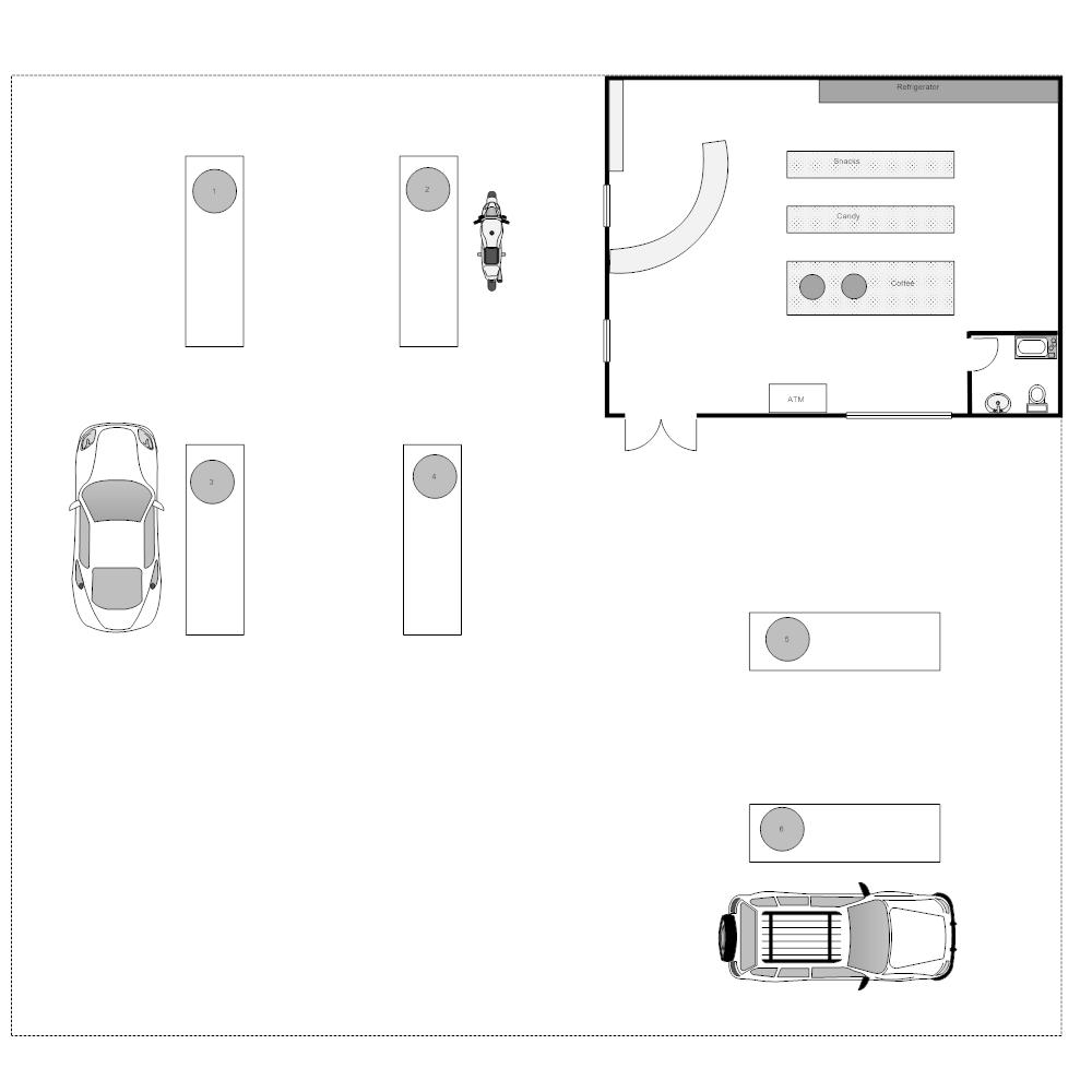gas station floor plan