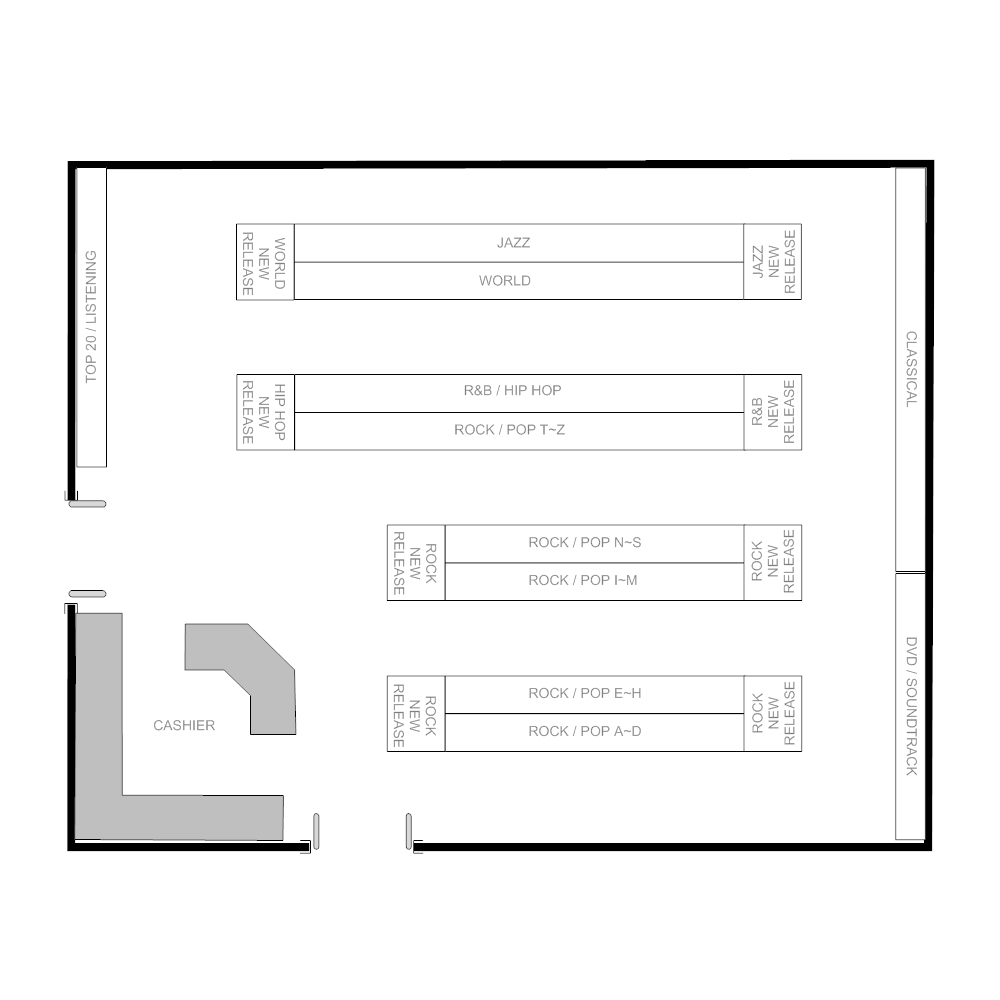 Example Image: Records Shop Layout
