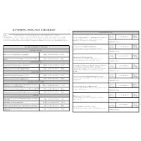 External Analysis Checklist