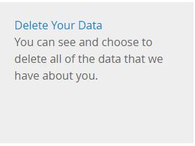 Delete your data
